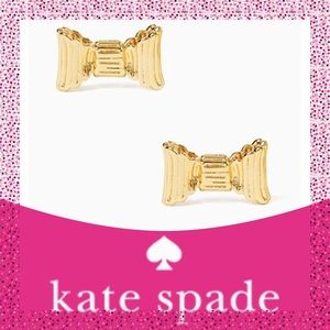 Kate Spade ♠️ Gold All Wrapped Up Bow Earrings NWT